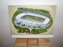 KC Stadium Fine Art Original Oil Painting - Hull City Football Club