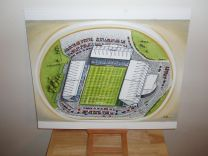 Kassam Stadium Fine Art Original Oil Painting - Oxford United Football Club