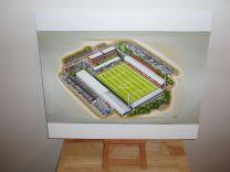 Griffin Park Stadium Fine Art Original Oil Painting - Brentford Football Club