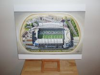 Stamford Bridge Stadium Fine Art Original Oil Painting - Chelsea Football Club