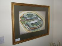 All England Lawn Tennis Club Courts Fine Art Original Oil Painting - Wimbledon Grand Slam