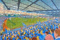 Palmerston Park Stadium Fine Art Jigsaw Puzzle - Queen of the South Football Club