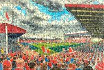 Pittodrie Stadium Fine Art Jigsaw Puzzle - Aberdeen Football Club