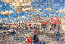 Pittodrie(Going to the Match) Stadium Fine Art Jigsaw Puzzle - Aberdeen Football Club