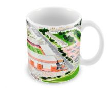Pittodrie Stadia Fine Art Ceramic Mug - Aberdeen Football Club