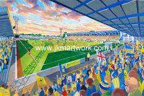 Plainmoor Stadium Fine Art Print - Torquay United Football Club