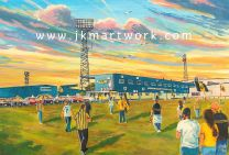 Plainmoor Stadium 'Going to the Match' Fine Art Print - Torquay United Football Club
