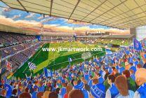 Portman Road Stadium Fine Art Print - Ipswich Town Football Club