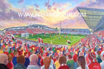 Racecourse Ground Stadium Fine Art Print - Wrexham Football Club