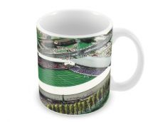 Racecourse Ground Stadia Fine Art Ceramic Mug - Wrexham Football Club