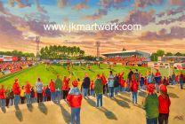 Rockingham Road Stadium Fine Art Print - Kettering Town Football Club