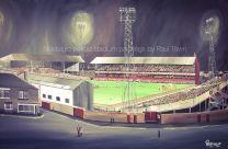 Roker Park Stadium Fine Art Box Canvas '1970's Floodlight Scene' - Sunderland Football Club