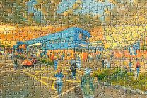 Rugby Park(Going to the Match) Stadium Fine Art Jigsaw Puzzle - Kilmarnock Football Club