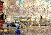 Saltergate Stadium 'Going to the Match' Fine Art Jigsaw Puzzle - Chesterfield Football Club
