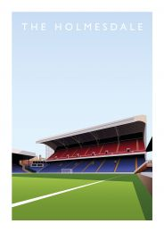 Selhurst Park Stadium 'The Holmesdale Stand' Art Illustration Poster - Crystal Palace Football Club
