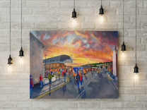 Selhurst Park Stadium Fine Art Canvas Print - Crystal Palace Football Club