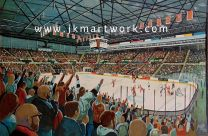 Sheffield Arena Stadium Fine Art Print - Sheffield Steelers Ice Hockey