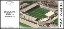 Sincil Bank Stadia Fine Art Jigsaw Puzzle - Lincoln City Football Club