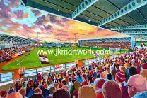 Sixfields Stadium Fine Art Print - Northampton Town Football Club
