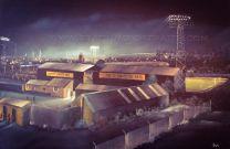 Somerton Park Stadium Fine Art Box Canvas Print - Newport County Football Club