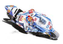 Jorge Lorenzo MOTO GP Yamaha Fiat Motorcycle Racing Bike Fine Art Print