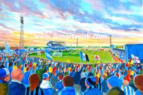 Springfield Park Stadium Fine Art Print - Wigan Athletic Football Club