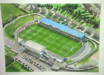 Springfield Park Stadium Fine Art Original Watercolour Painting - Wigan Athletic Football Club