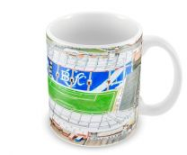 St Andrews Stadia Fine Art Ceramic Mug - Birmingham City Football Club