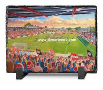 St James' Park Stadium Fine Art Slate Presentation - Exeter City Football Club