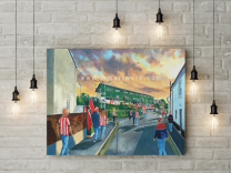 St James' Park Stadium 'Going to the Match' Fine Art Canvas Print - Exeter City Football Club