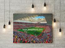 Stadium of Light Stadium Fine Art Canvas Print - Sunderland Football Club