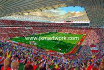 Stadium of Light Fine Art Print - Sunderland Football Club