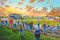 Stair Park Stadium Fine Art Print - Stranraer Football Club