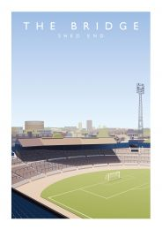 Stamford Bridge Stadium 'The Shed' Art Illustration Poster - Chelsea Football Club
