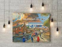 Stark's Park Stadium 'Going to the Match' Fine Art Canvas Print - Raith Rovers Football Club
