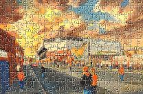 Tannadice Park(Going to the Match) Stadium Fine Art Jigsaw Puzzle - Dundee United Football Club