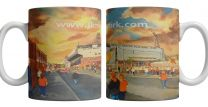 Tannadice Park Stadium 'Going to the Match' Fine Art Ceramic Mug - Dundee United Football Club