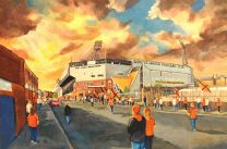 Tannadice Park Stadium(Going to the Game) Fine Art Print - Dundee United Football Club