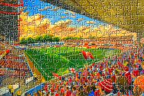 The Dell Stadium Fine Art Jigsaw Puzzle - Southampton Football Club
