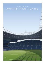 Tottenham Stadium Art Illustration Poster - Tottenham Hotspur Football Club