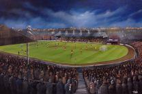 Cathkin Park Stadium Fine Art Box Canvas Print - Third Lanark Athletic Club