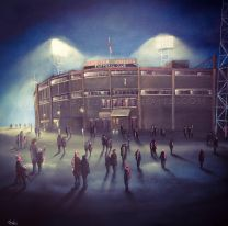 Old Trafford Stadium 'Those old European Nights' Fine Art Box Canvas Print - Manchester United Football Club