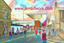 Turf Moor Stadium 'Going to the Match' Fine Art Print - Burnley Football Club