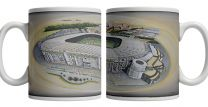 Twickenham Stadium Fine Art Ceramic Mug - England Rugby Union
