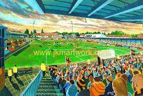 Underhill Stadium Fine Art Print - Barnet Football Club
