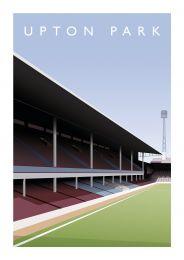 Upton Park Stadium 'West Stand' Art Illustration Poster - West Ham United Football Club