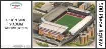 Upton Park Stadia Fine Art Jigsaw Puzzle - West Ham United Football Club