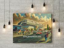 Upton Park Stadium 'Going to the Match' Fine Art - West Ham United Football Club