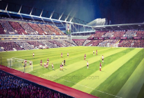 Upton Park Stadium 'Farewell Boleyn' Fine Art Box Canvas Print - West Ham United Football Club