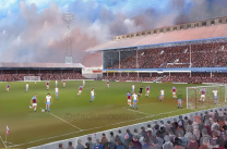 Upton Park Stadium Fine Art Box Canvas Print ' v Aston Villa FA Cup QF 1980' - West Ham United Football Club